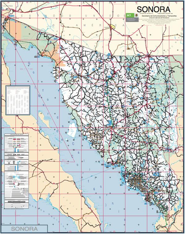 Roadmap of Sonora, Mexico | Wild Sonora