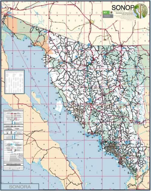 Roadmap of Sonora Mexico Wild Sonora