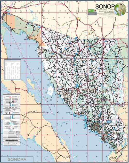 Roadmap Of Sonora Mexico Wild Sonora - Mexico road map