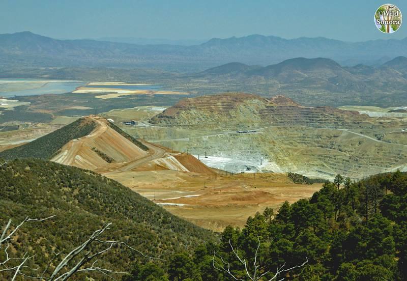 Cananea mine from Sierra Elenita, photo by Ana Lilia Reina-Guerrero