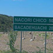 New highway to Bacadéhuachi