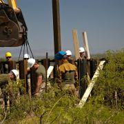 Border wall construction, Arizona/Sonora border