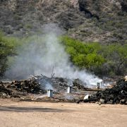 Photo: Mesquite charcoal making in the Sonoran back-country
