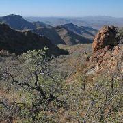 Sierra El Humo looking down north facing canyon