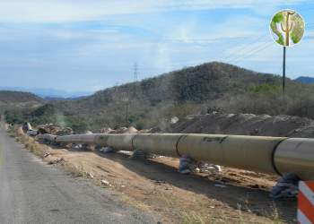 Pipeline for municipal water to Hermosillo - Independencia Pipeline under construction