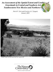 An Assessment of the Spatial Extent and Condition of Grasslands cover