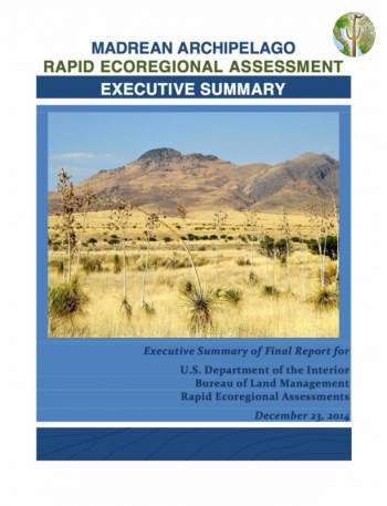 Madrean Archipelago Rapid Ecoregional Assessment - Executive Summary cover
