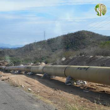 Independencia pipeline under construction