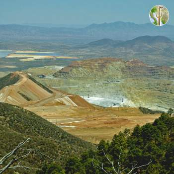 Cananea mine from Sierra Elenita, photo by Ana Lilia Reina-Guerrero
