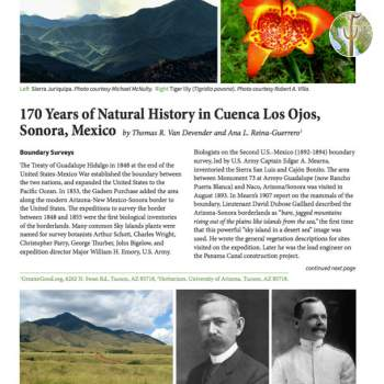 170 Years of Natural History in Cuenca Los Ojos, Sonora, Mexico cover