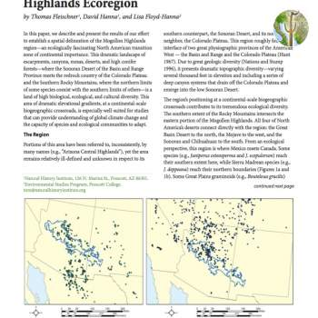 A Preliminary Description of the Mogollon Highlands Ecoregion cover