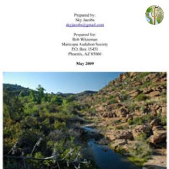 Cover of Vegetation and Wildlife Survey of Devil's Canyon (Gaan Canyon), Tonto National Forest (May 2009)
