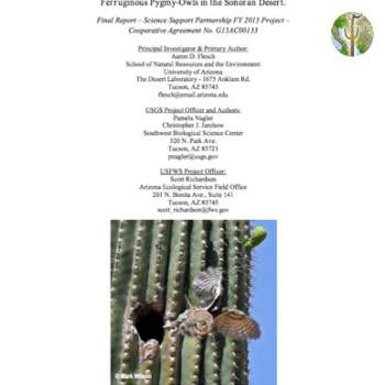 Population trends, extinction risk, and conservation guidelines for Ferruginous Pygmy-Owls in the Sonoran Desert cover image
