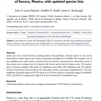 Cover of A conservation checklist of the amphibians and reptiles of Sonora, Mexico, with updated species lists