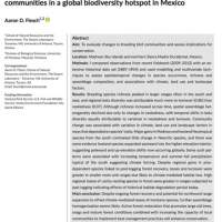 Patterns and drivers of long-term changes in breeding bird communities in a global biodiversity hotspot in Mexico