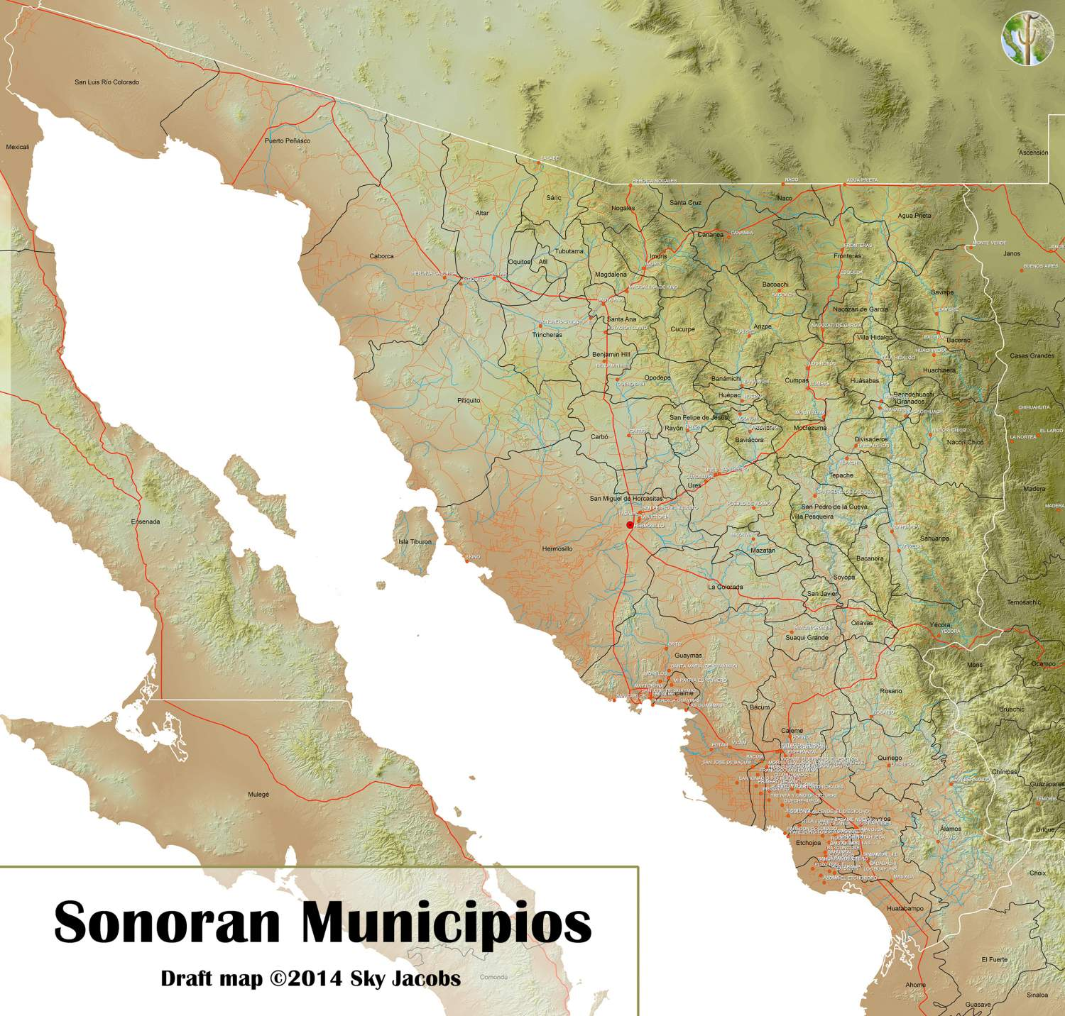 Municipios of Sonora, Mexico
